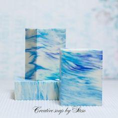 """Natural soap Cold process """"sea melody"""" #steso #creative soap by steso #soapshare #CP soap #tatsiana  serko #soap"""