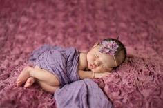 Purple Cheesecloth Newborn Girl Wrap Photo Prop