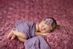 Purple Cheesecloth Newborn Girl Wrap Photo Prop
