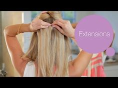 How to Put in Hair Extensions - ModernMom Makeover - YouTube