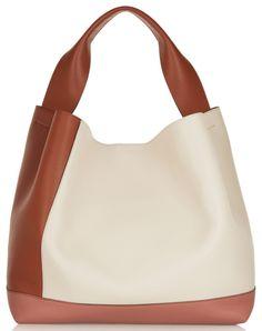 994729ddfe Sac porté épaule en cuir color-block, ecru, marron, Marni cadeaux de