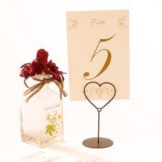 Numero de mesa con corazón