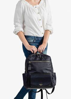 TWELVE little - Peek-a-Boo Backpack in Black | Queen Bee