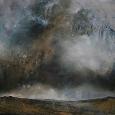 Acrylic painting on paper - 'This wild untamed land' by Stewart Edmondson