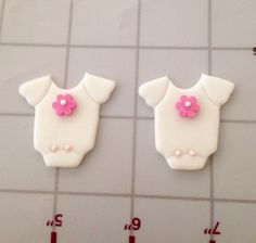 """Baby Shower onesies cupcake fondant toppers"""