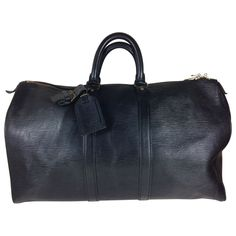 LOUIS VUITTON Keepall leather 48h bag