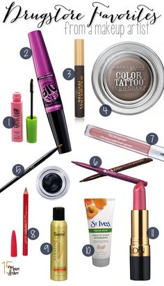 Drugstore Makeup Picks From A Makeup Artist!  I love getting pro tips like this.
