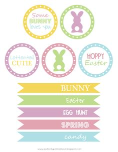 Free Easter Printables via Pretty My Party designed by Kristin at Perfectly Printables on Etsy.com