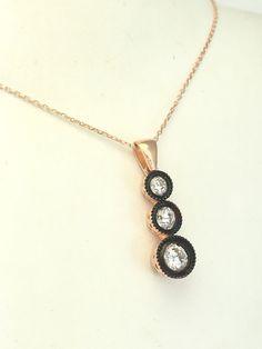 Ottoman Turkish Handmade Sterling Silver Topaz Hurrem Necklace  | eBay