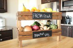 caja frutas verduras cocina plantas
