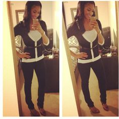 Coco Chanel Style Sweater...black and white ❤...work style