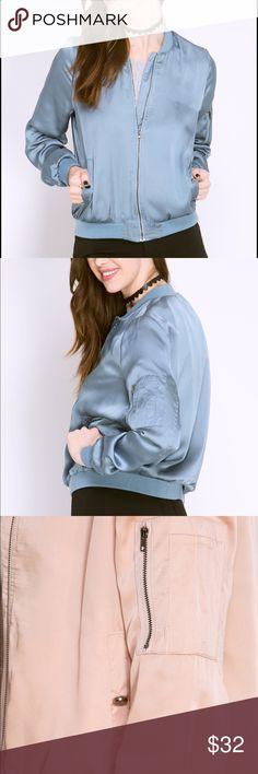 Satin bomber with sleeve pocket detail Satin bomber with sleeve pocket detail Jackets & Coats Blazers