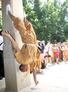 """Shaolin Feats of Strength ~The only spiritual discipline I know of that incorporates strenuous physical rituals into it's practices, and therefore the best. ~ Physical prowess is paramount in Nature, which is God's Design. ~ M.S.M. Gish ~ Miks' Pics """"People ll"""" board @ http://www.pinterest.com/msmgish/people-ll/"""