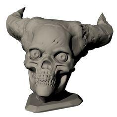 Hell Skull by Ola Sundberg  #3dprinting #3dprinted #sculptures