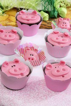 Cupcake de porquinho / DIY, Candy