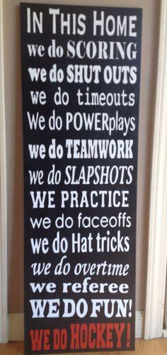 Do you live in a Hockey Home! Blackhawks Hockey, Hockey Mom, Field Hockey, Chicago Blackhawks, Ice Hockey, Hockey Stuff, Hockey Party, Hockey Decor, Hockey Gifts