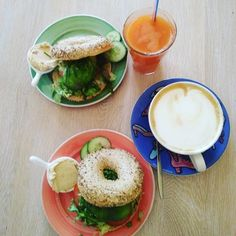 A lot of you might already know, but I visited Amsterdam two weeks ago and I absolutely loved it, that's why I wanted so share my Amsterdam Food Guide now. Amsterdam Guide, Amsterdam Food, Bagel