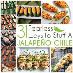 31 Fearless Ways To Stuff A Jalapeño Chile