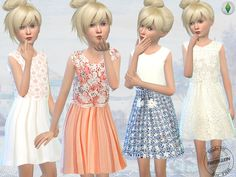 Lana CC Finds - Elegant Embroidery and Lace Dresses by Fritzie.Lein