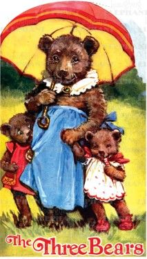 Shape Book - Three Bears Vintage Print Story Book only $9.95