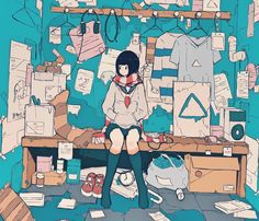 daisukerichard444:  #illustration #イラスト - wominago