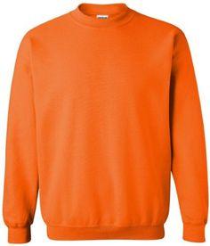 Gildan Heavy Blend Crewneck Sweatshirt. 18000, Men's, Size: XL, Orange
