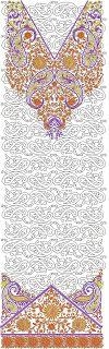 Latest Trendy Neck Embroidery Kurtis Designs - Embdesigntube