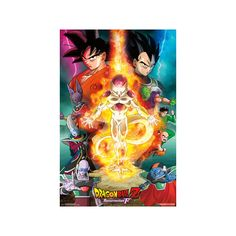 Dragon Ball Z Resurrection F- One Sheet Poster ($5.49) ❤ liked on Polyvore featuring home, home decor, wall art, animal wall art, animal posters, dragon home decor, dragon wall art and dragon poster