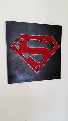 This unique string art home decor Superman piece would look good in any lover of super heroes and Marvel no matter boy girl, man or woman.  heART of Sarah: STRING ART