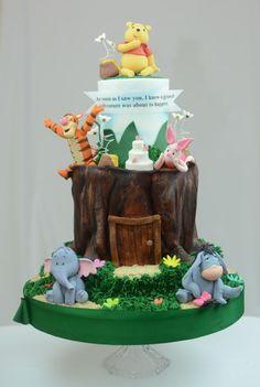 Winnie the Pooh Wedding Cake - Cake by Sugarpixy
