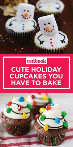Alert your friends: The cookie swap is cancelled for something even *better*. cute holiday cupcakes