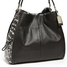 COACH 'Madison - Phoebe' Python Embossed Leather Shoulder Bag | Nordstrom