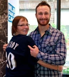 Oh just STOP being so adorable! Look at that smile... Lucroy, you slay me!