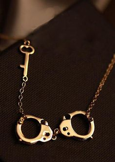 Handcuffs + key necklace