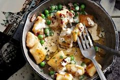 Make your own gnocchi and pair it with creamy carbonara sauce.