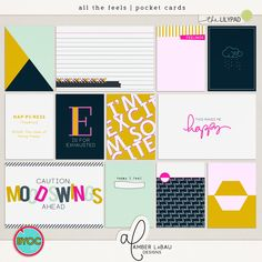 ALL THE FEELS POCKET CARDS | by Amber LaBau Your life story is made up of a wide array of experiences that are each a...