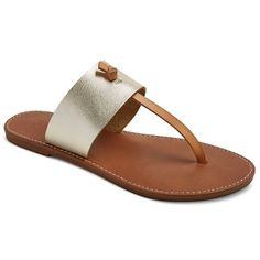 Women's Ainsley Thong Sandals - GOLD