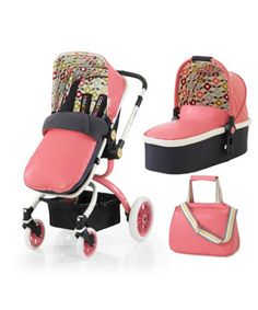 Cosatto Ooba 3-1 Travel System including Carrycot - Kimono. Suitable from birth, the super stylish and luxurious Cosatto Ooba 3-in-1 stroller can be used as a pram and pushchair.