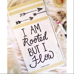 I Am Rooted but I Flow, reclaimed wood sign by HelloLittleBungalow on Etsy
