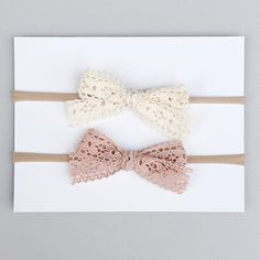 """Turned the dyed lace into pretty bows. They are listed as """"Vintage Lace Bows"""""""