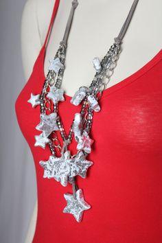 Shimmering Stars Necklace/Cascading Stars Necklace on Etsy, $69.00