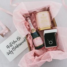 A cute way to honour your bridesmaids