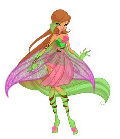 this design is partially by me but cosmix did the skirt, hair, and wings base by feelam textures by unknown Flora Bravix Eye Texture, Flora Winx, Winx Club, Character Description, Drawing Tools, Im In Love, Fairy, Bloom, Fan Art