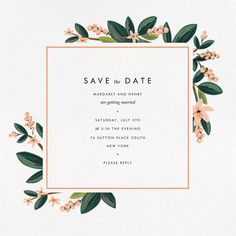 Paperless Post - November Herbarium (Save the Date) by Rifle Paper Co.