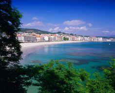 Playa de Sanxenxo, Galicia.
