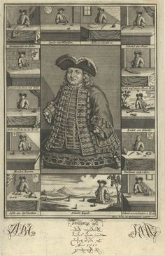 Matthias Buchinger (1674-1740) and his abilities in 13 vignettes