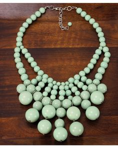 Statement Bib Necklace in Mint | Country Outfitter