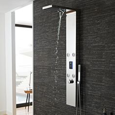 Hudson Reed Genie Chrome LED Thermostatic Shower Tower with 4 Body Jets