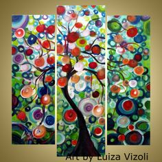 whimsical trees | Whimsical Fantasy Tree Oil Painting | For the Home