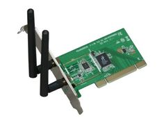 Rosewill RNX-N300 IEEE 802.11b/g/n Wireless-N 2.0 PCI (1T2R) Up to 300Mbps download and 150 Mbps upload Data Rates/ WPA/WPA2 (AES, 64,128-WEP with shared-key authentication) Cisco CCS V1.0, V2.0 and V3.0 compliant/ Vista/ Win7 by Rosewill. $24.99. Specifications •Standards:IEEE 802.11b/g, IEEE 802.11n Draft •Wireless Data Rates:Up to 300Mbps download and 150 Mbps upload Data Rates •Security -WPA/WPA2 (AES, 64,128-WEP with shared-key au...